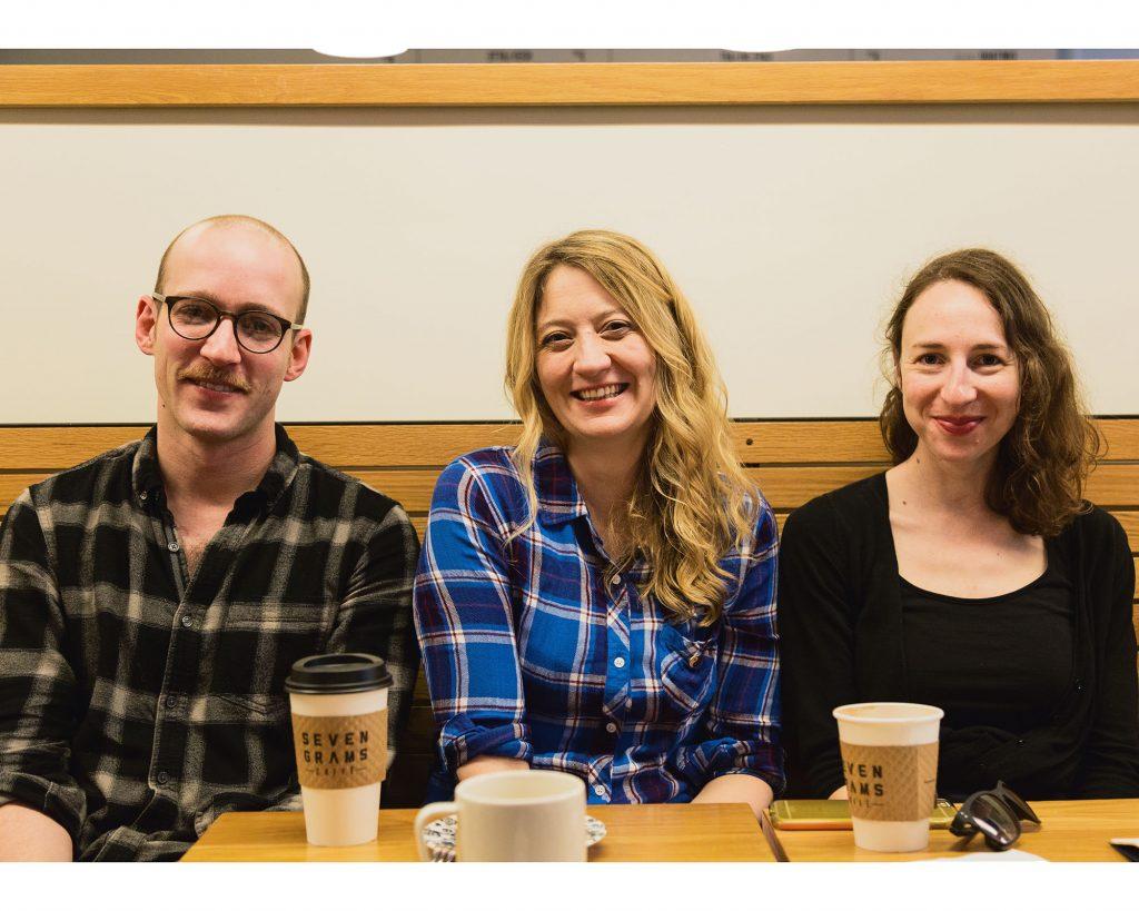 Ariel Stess, Alex Borinsky, Heidi Schrek