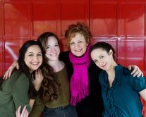Kimberly Chatterjee, Kate Hamill, Amelia Pedlow, and Nance Williamson